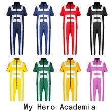 My Hero Academy Anime Cosplay Costume Haosheng Iida Tiantian University Sportswear Tops + Pants Halloween Party