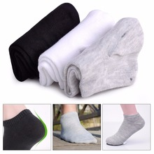 New 3 Pairs Men Breathe Non-Slip Bamboo Fiber Low Cut Casual Ankle Socks Male Classic Fashion Sock Shallow Mouth Socks