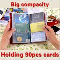 2017 Men Women's 90 Card places Travel Passport Credit ID Genuine Leather Card Holder Bank Credit Business Card Bag Organizer