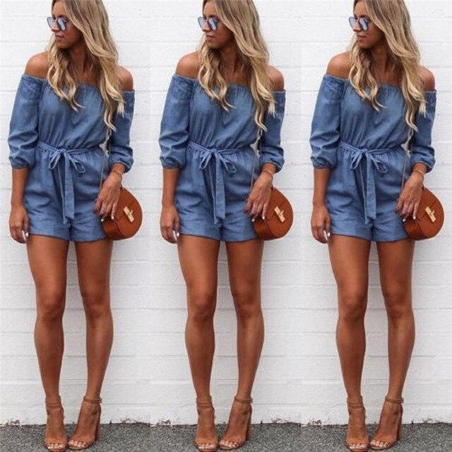 overall 2017 mode frauen weg schulter mini overall damen sommer shorts strand sonne outfit. Black Bedroom Furniture Sets. Home Design Ideas
