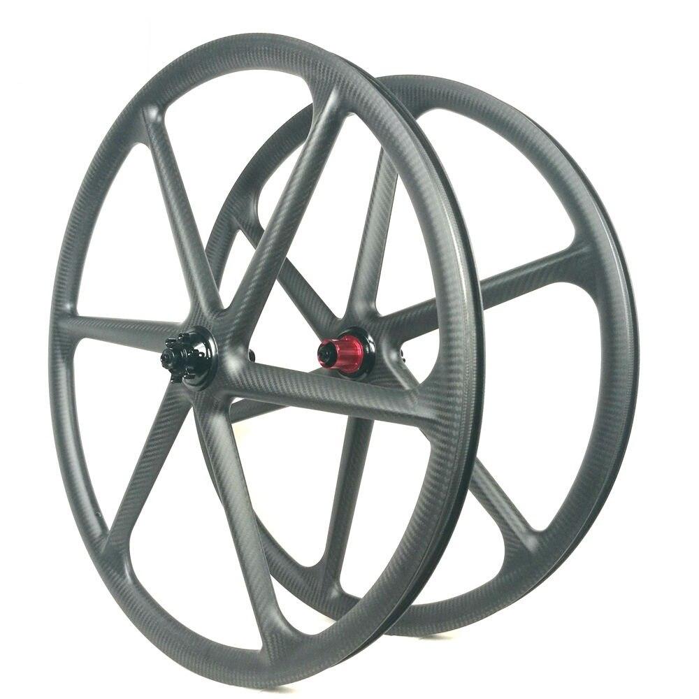 Лидер продаж 30 мм Ширина углерода 6 спицы колеса 29ER MTB колеса велосипеда
