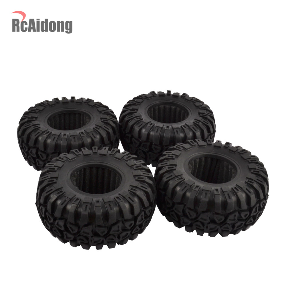 1/10 Rubber <font><b>2.2</b></font> Inch <font><b>RC</b></font> <font><b>Crawler</b></font> <font><b>Tires</b></font> for 1/10 Rock <font><b>Crawler</b></font> Axial SCX10 RR10 90053 AX10 Wraith 90056 90045 image