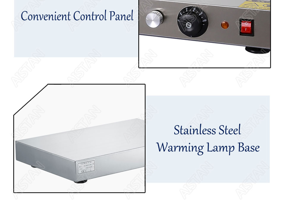 DR3/DR4 electric counter top food warmer heating lamp for buffet and restaurant 12