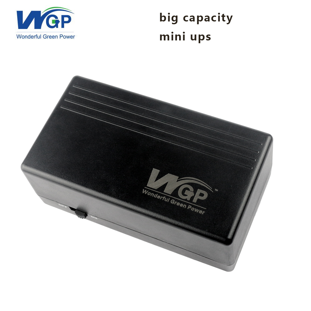 Big capacity lithium battery ups uninterruptible power supply 12v 2a 57.72wh mini ups for wifi router DSL modem and cctv camera