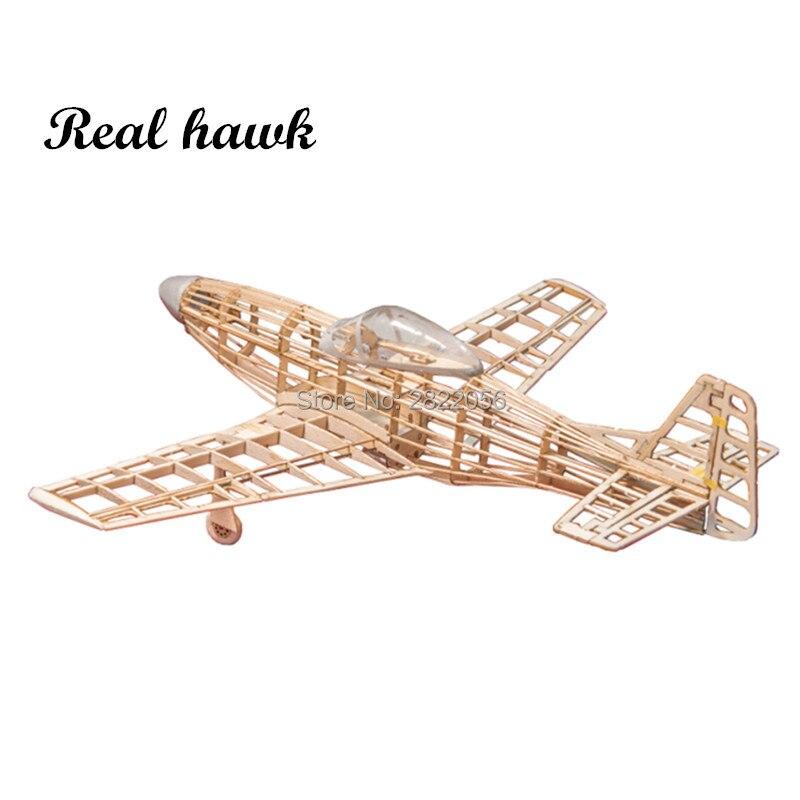 mini RC Plane Laser Cut Balsa Wood Airplane Kit P51 P 51 model Building Kit RC Airplanes     - title=