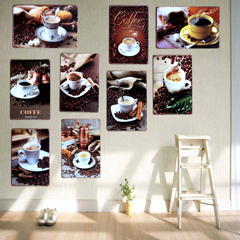 Coffee Vintage Plaque Painting Metal Wall Art Decor Cafe Pub Cuadros Mix  Order 30X20CM A-5504