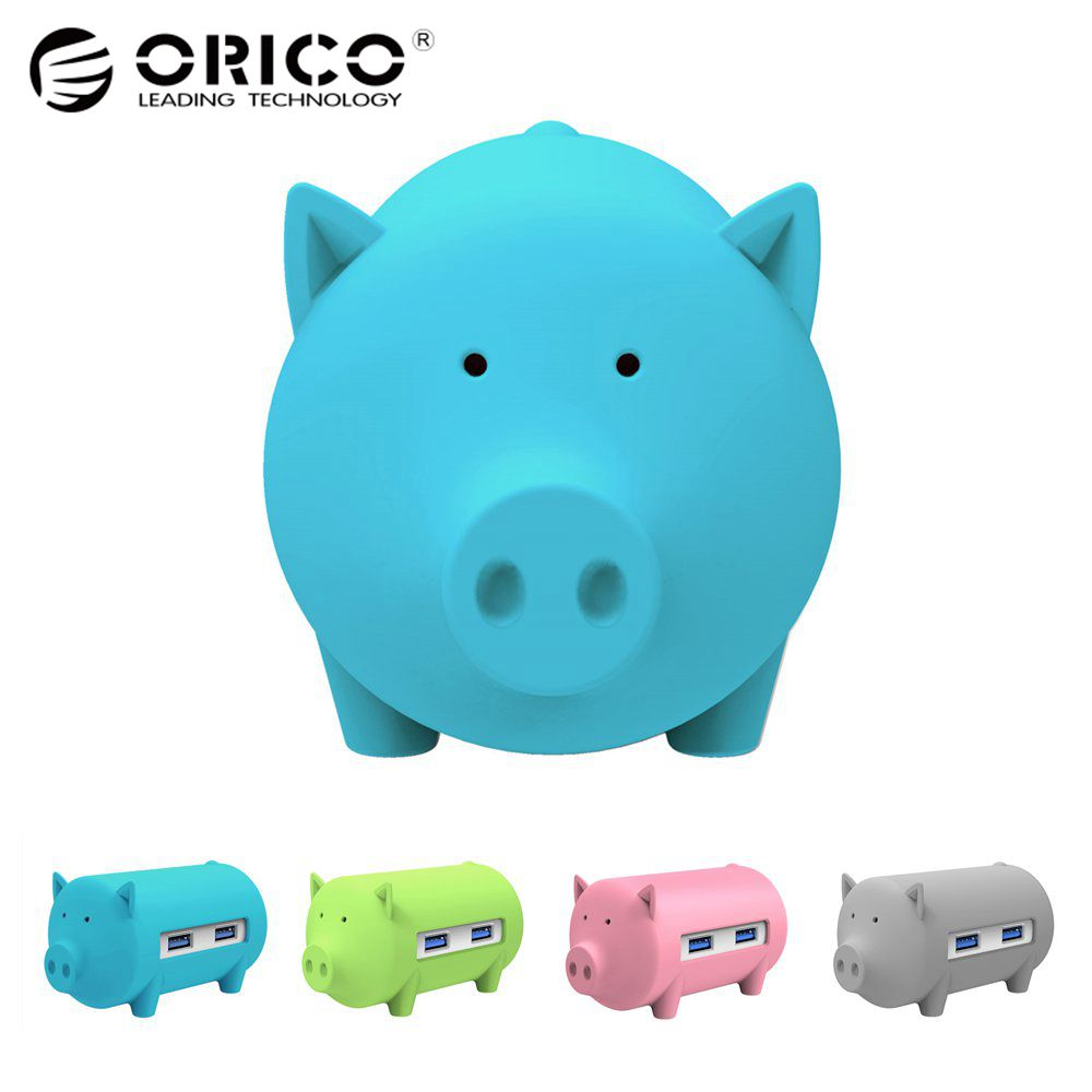 ORICO Litte Pig Hub All in 1 High Speed Usb 3.0 Hub 3 Port USB Power Interface with TF SD Card Reader for MacBook Air Laptop PC orico m4u3 usb 3 0 4 port usb 3 0 hub laptop stand abs usb 3 0 hub