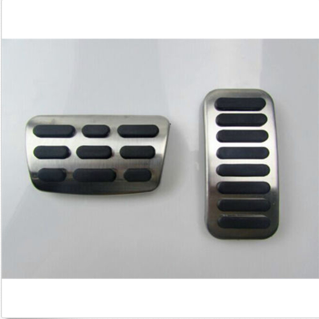 New Arrived Car Steel Foot Pedal Pad Cover Fit Gas Brake Pedals For Hyundai Elantra 2017