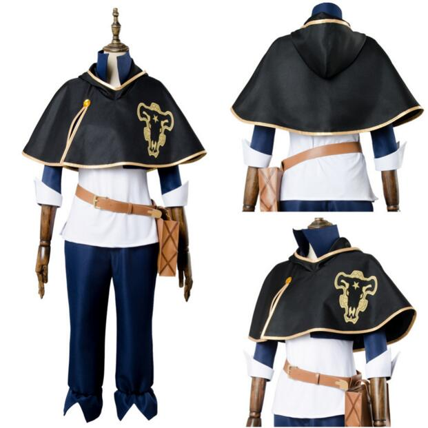<font><b>Black</b></font> <font><b>Clover</b></font> Anime <font><b>Cosplay</b></font> Costume <font><b>Asta</b></font> Yuno Fight Uniform Outfit Finral Roulacase <font><b>Cosplay</b></font> Costume image