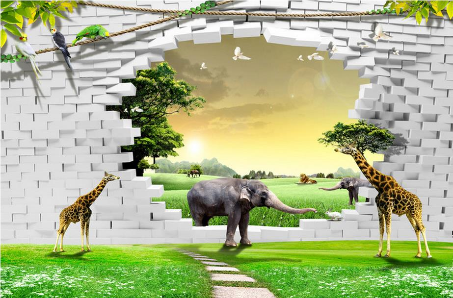 customize 3d wall papers home decor living room animal wall papers home decor 3d wall murals 3d stereoscopic wallpaper