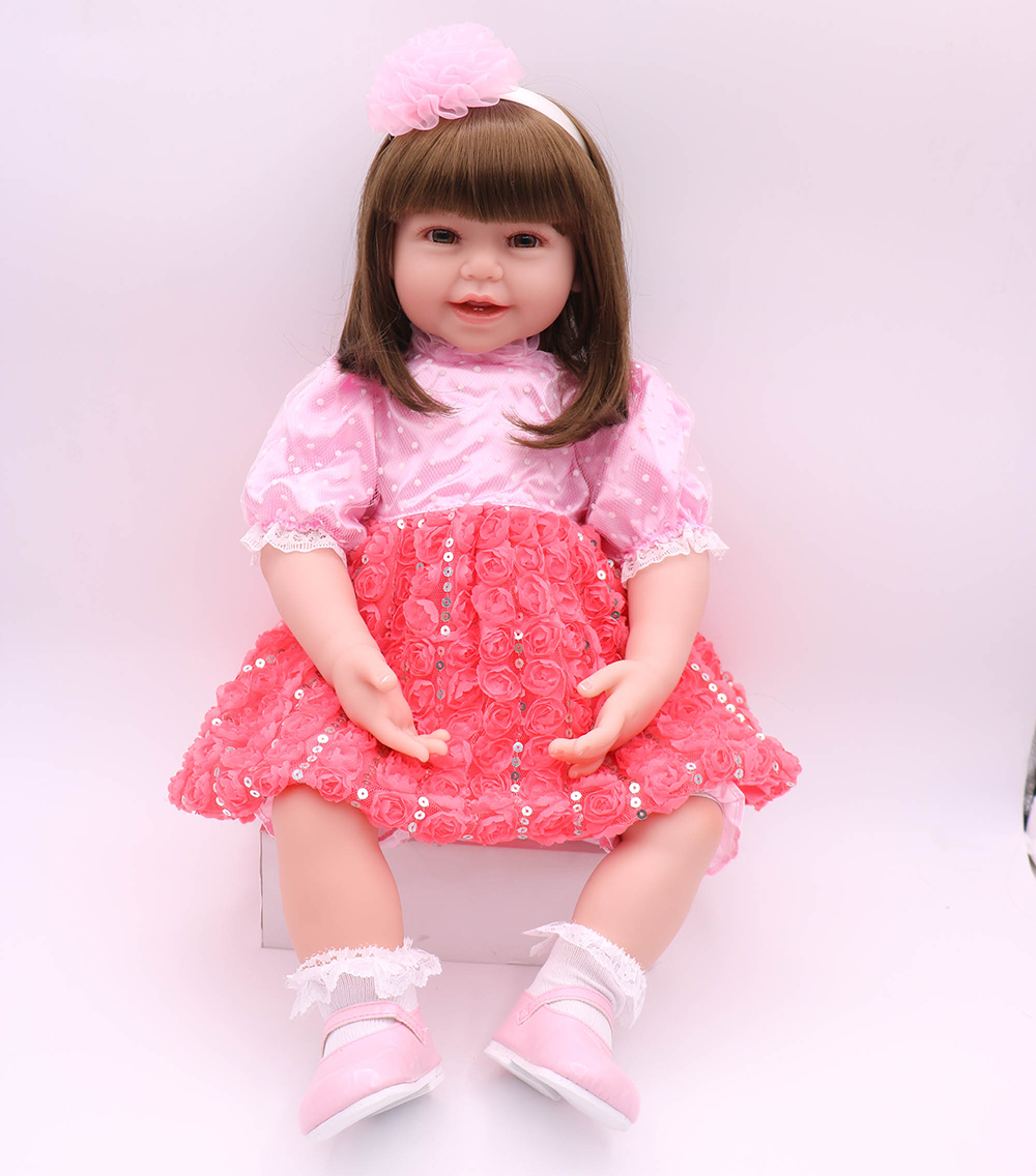 Pursue 24/60 cm Silicone Reborn Baby Dolls Princess Girl Doll Toys for Sale Baby Reborn Silicone Doll Toys for Girls Play Gift pursue 16 42cm american girl dolls silicone baby dolls for sale realista life like dolls toys for children doll christmas gift