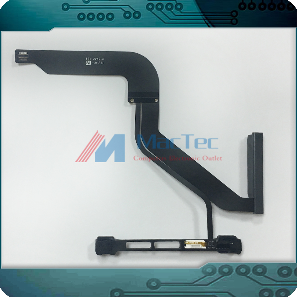 NEW 821-2049-A 923-0104 for MacBook Pro 13 A1278 HDD Hard Drive Flex Cable w/ IR Sensor Bracket MD101 MD102 Mid 2012 Year