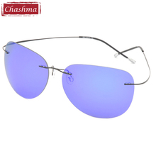 Brand Designer Fishing Glasses Men Sun Glasses New Fashion Brand Titanium Ultra Light Rimless Polarized Sunglasses