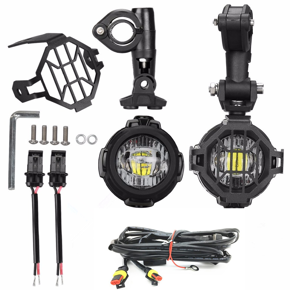 Bakuis Motorcycle Led Fog Light Safety Driving Lamp With Bike Wire Harness Bmw K1300s New 40w Auxiliary Kits Spot Lamps Protect Guards Wiring