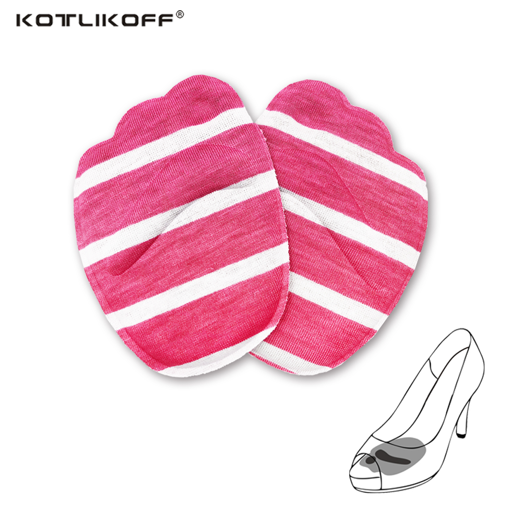 KOTLIKOF 4D memory foam forefoot pads insoles inserts massager anti-slip for high heels woman shoes sandals shoes accessories 4d massager