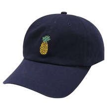 4bd313da50d 2018 Men Women Embroidered Baseball Cap Funny Fresh Fruit Hipster Pineapple  Dad Hat