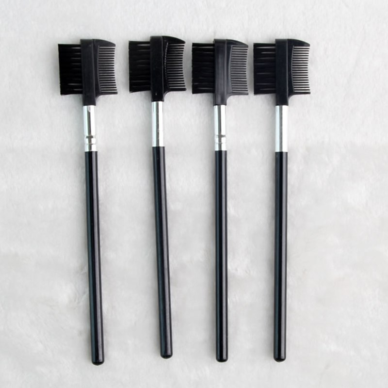 4 Pcs New Fashion Beauty Black Dual Purpose Eyelash Eyebrow