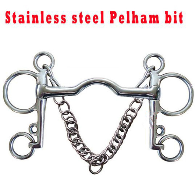 Solid Jointed Stainless Steel Horse Pelham Bits  3