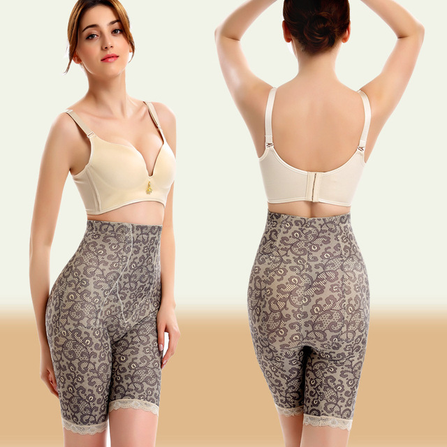 PRAYGER XL-5XL Women Stomach Control Panties Booty Body Shapers Slimming Waist gril shorts Underwear Lace Sexy Tummy Trimmer