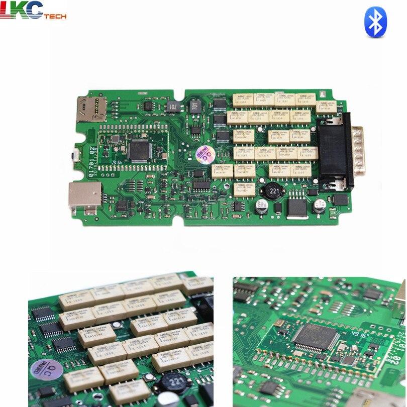 Date 2016.00 Seul Un + Vert PCB TCS cdp PRO NEC Relais Nouveau VCI pour Voitures/Camions OBD2 De Diagnostic -outil Scanner 5 pcs/lot DHL Livraison