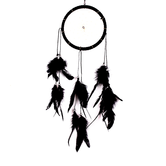 2017 Hot Selling Indian Feathers Dream Catcher Balcony Roof Ornaments  Hanging Wall Decoration House Car Oranment-in Wind Chimes & Hanging  Decorations