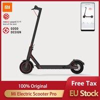 Orijinal Xiaomi mijia elektrikli scooter Pro akıllı yetişkin longboard hoverboard kaykay 2 tekerlekli 45KM kilometre APP kontrolü ile