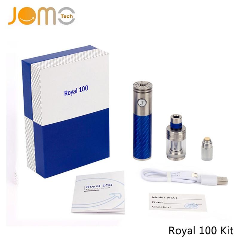 RU Stock!JomoTech 100W Huge Vaporizer Carbon Fiber Electronic Cigarette Kit 2200mAh Battery Royal 100w Box Mod Vape Pen Jomo-109