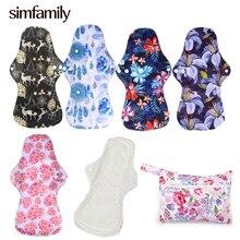 [Simfamily] 5+ 1 набор тяжелых подушечек многоразовые гигиенические прокладки для салфеток из ткани для менструального использования органические бамбуковые мягкие гигиенические подушечки для мам для ночного использования