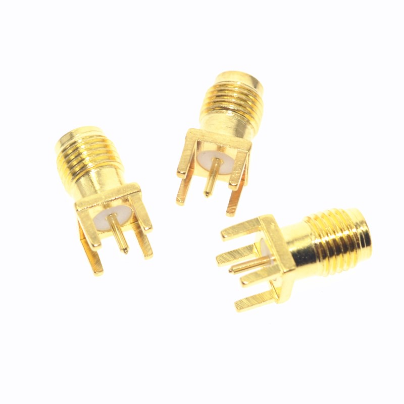 Hot End Launch PCB Mount SMA Female Plug Straight RF connector Adapter antenna SMA connector 5PCS