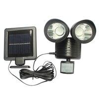 450 LM 22LED Solar Powered Panel Street Light PIR Motion Sensor Lighting Outdoor Waterproof Path Wall