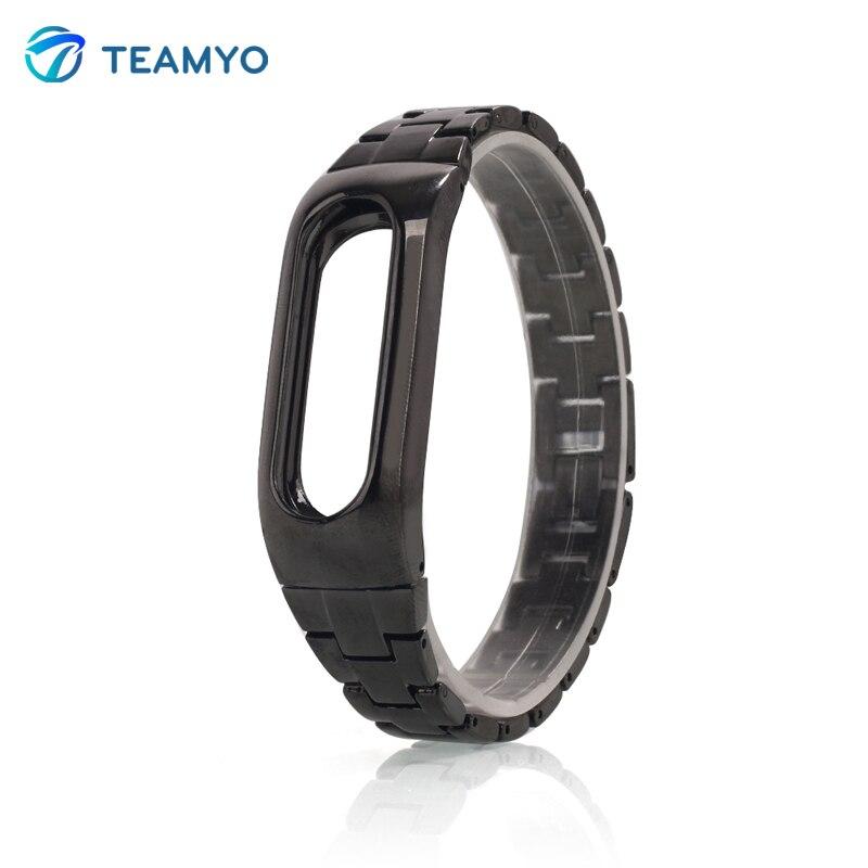 TEAMYO Xiaomi Mi Band 1S Metal Strap For Original Xiaomi Miband 1S 1A Smart Bracelet Wrist Band Silver Black Golden Color