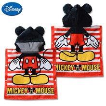 Disney Mickey Mouse Minnie Donald Daisy Winnie Hooded Towel Children Cartoon Bathrobe Cotton Breathable Soft Baby Bath