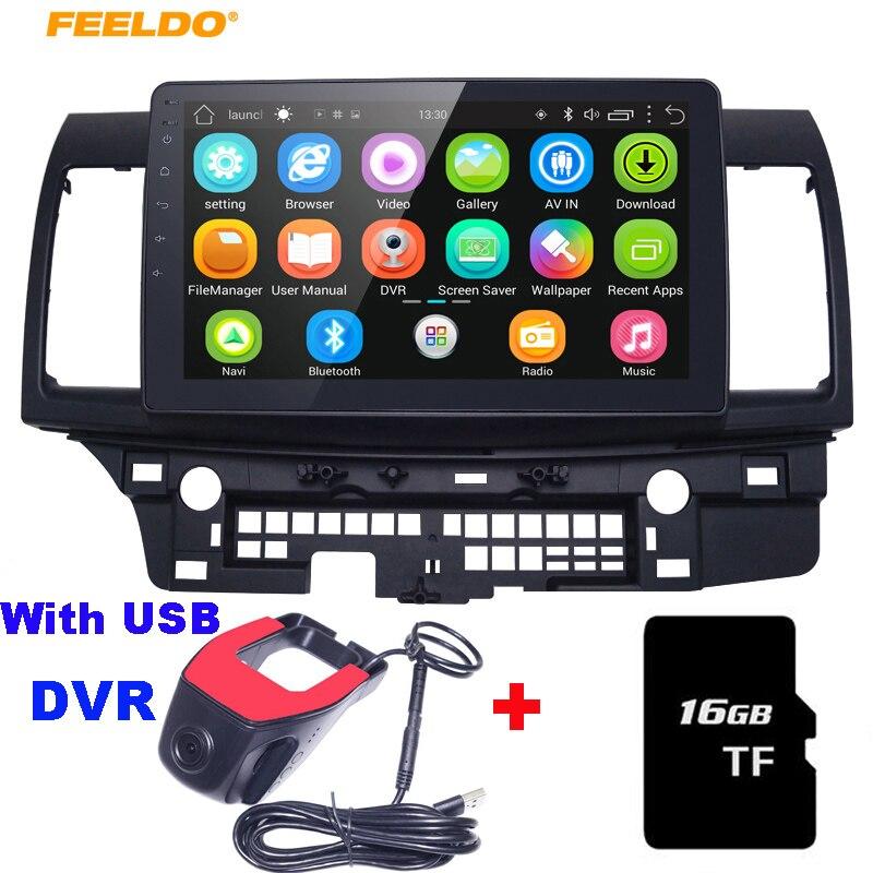 FEELDO 10.2 Android 6.0 Quad Cordon Voiture GPS stéréo lecteur Pour Mitsubishi Lancer EX navi navigateur radio Headunit navi 1024*600