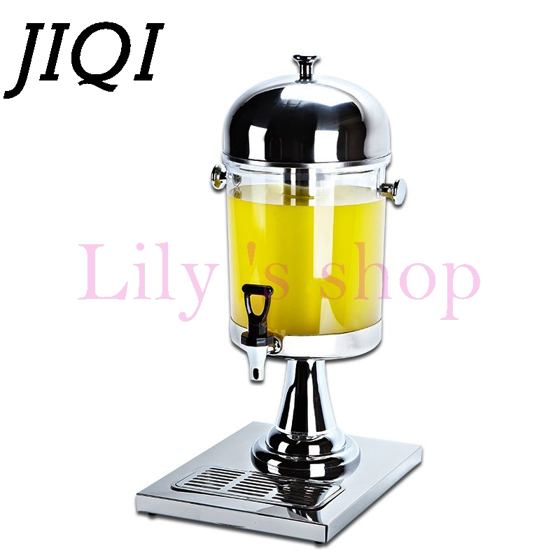 JIQI 8L Ice/hot beverage Fruit juice barrel commercial home party milk tea Coke Beer faucet Soda drink Dispenser Slush Machine 2016 new generation powerful 220v electric ice crusher summer home use milk tea shop drink small commercial ice sand machine zf