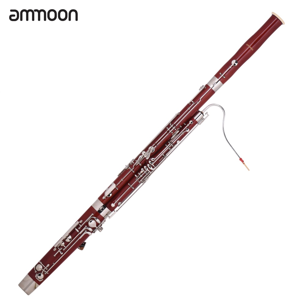 ammoon Professional C Key Bassoon Maple Wood Body Cupronickel Silver Plated Keys Woodwind Instrumentammoon Professional C Key Bassoon Maple Wood Body Cupronickel Silver Plated Keys Woodwind Instrument