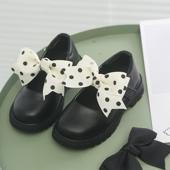 2019New Kid Shoes Childrens Student Black Leather Girls Princess Kids School White 3 4 5 6 7 8 9 10 11 15Year