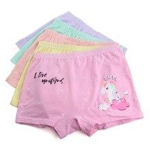 hot deal buy 5pcs/lot kids panties unicorn model underwear girls boxers cartoon clothing briefs child`s underwear baby panty high quality