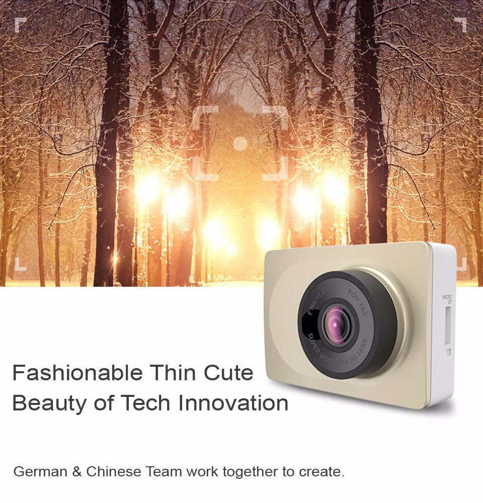 International Edition Xiaomi Yi Smart Car Dvr 165 Degree 27 Dash Xiaoyi Dome Cctv 1080 1080p Full Hd Mmc 16gb Light Sensitive Ability 4000mv Luxsec 200 Improved Than Normal 1800 2000mv