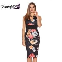 Fantaist Kobiety Lato W Stylu Vintage Rękawów Sexy Patchwork Floral Print Elegancki Wieczorne Party Casual Urząd Pracy Slim Pencil Dress