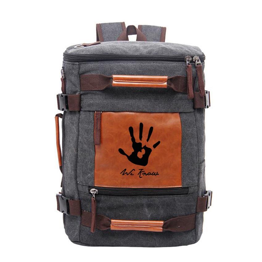 Engraved Skyrim Dark Brotherhood We Know Hand Stylish Backpack Male Travel Shoulder Bag Functional Large Capacity