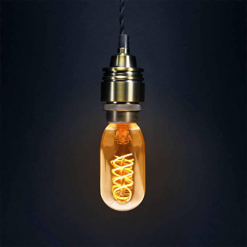 רטרו אדיסון אור הנורה E27 T45 LED 40W Teardrop ספירלת נימה אור הנורה רטרו מנורות עבור קפה חנות בית תאורה דקורטיבית
