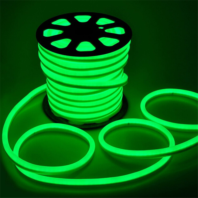 Us 174 3 17 Off Free Shipping 20 M Lot 80led Water Proof Led Neon Flex With Plug Purple Flexible Strip In