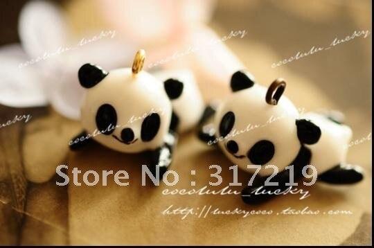 Новейшая~! 23 мм Смола панда. Смола ремесла смолы подвески, прекрасная Европа, 100 шт