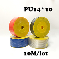 PU14*10 10M/lot Free shipping PU Pipe 14*10mm for air & water Pneumatic parts pneumatic hose ID 10mm OD 14mm