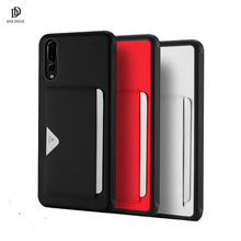 Luxury Leather Case For Huawei P20 Pro Case Soft Silicone Back Cover For Huawei P20 Pro Coque With Card Slot