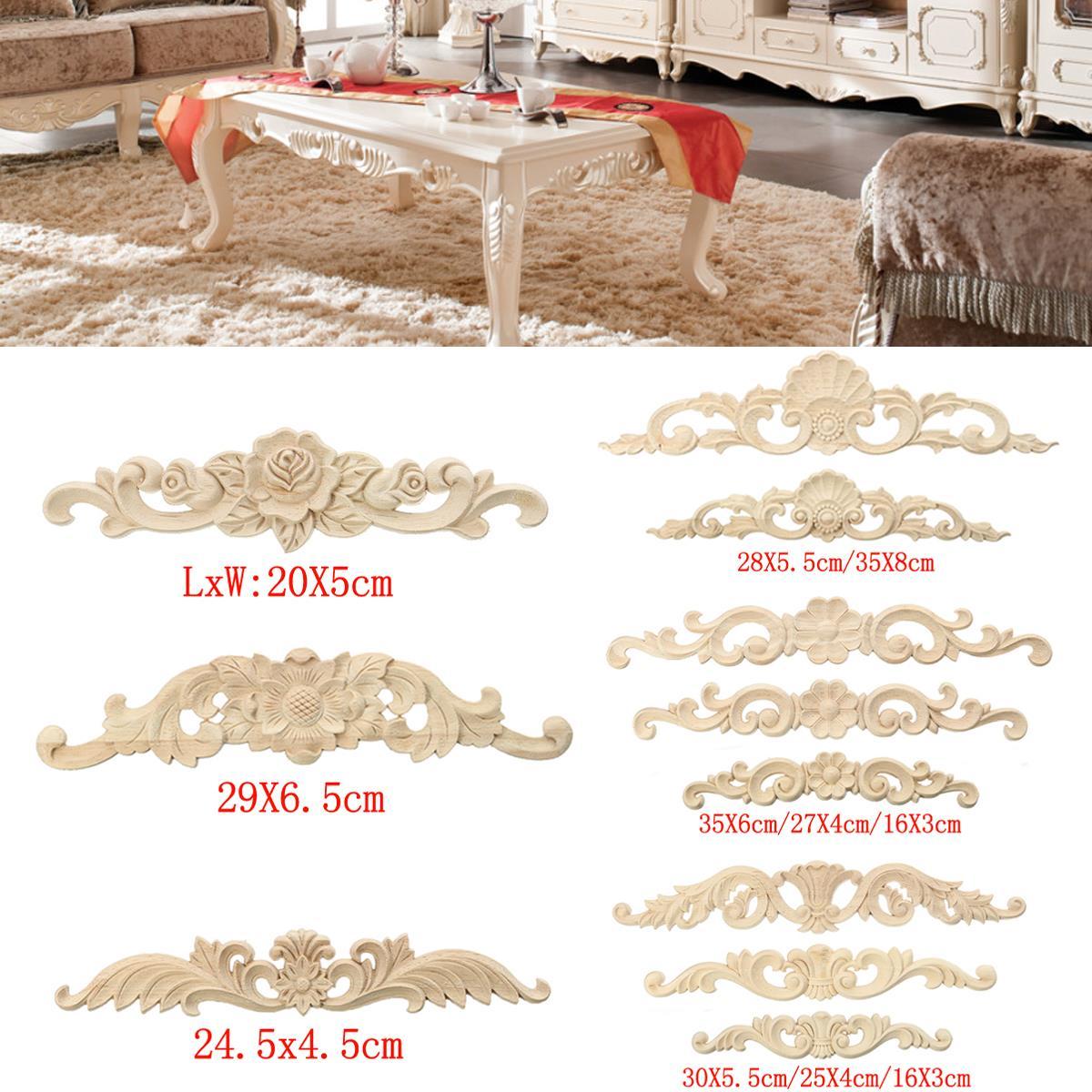 11 arten holzschnitzerei aufkleber ecke holz geschnitzten corner möbel dekorative figurine miniaturen wohnkultur für schranktür wand