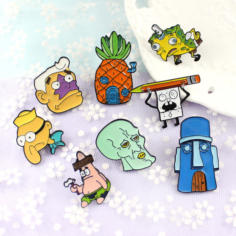 Spongebob Enamel lapel pin broches