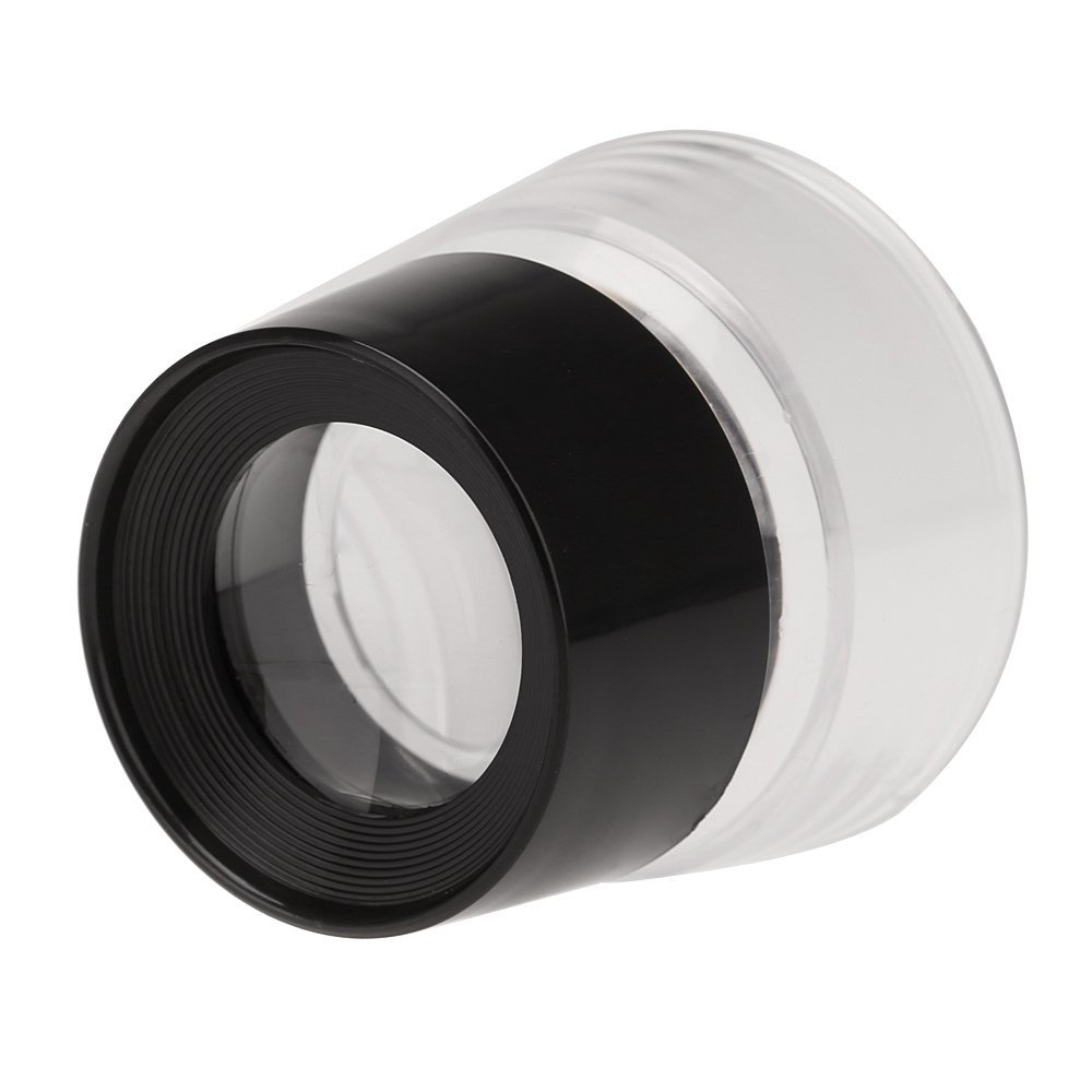 10X Cilindro Multifuncional Olho Lupa lupa Lente de Vidro Lupa Lupa  Ferramenta para Jóias Assista Coin Selo Preto + Transparente 88ef12e74d