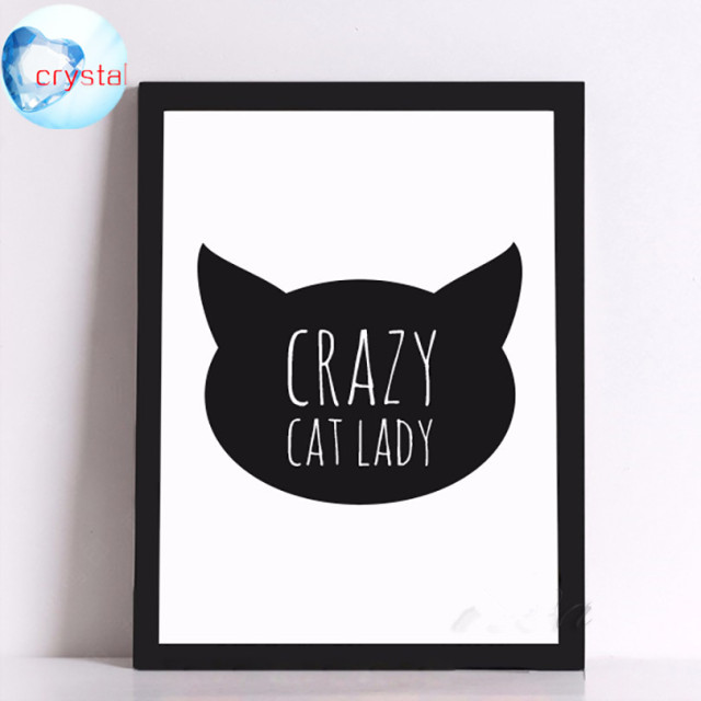 Buy crazy cat lady canvas art print for Crazy mural lady
