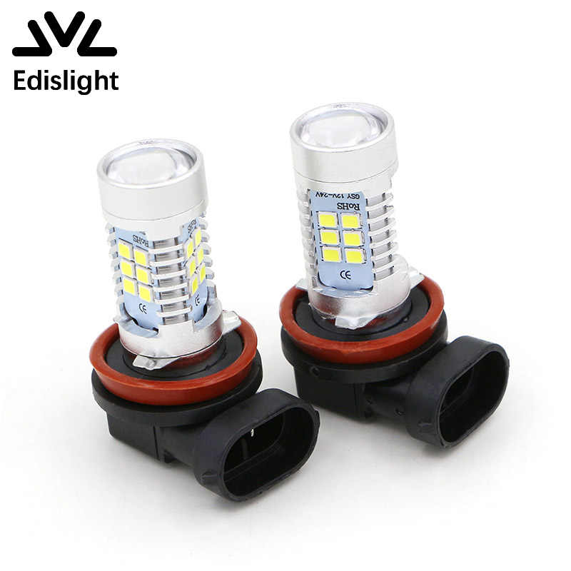 Edislight H11 H8 9005 HB3 9006 HB4 White 6000K 850LM 2835 21SMD Auto LED Light For Car Truck Fog Light Bulbs